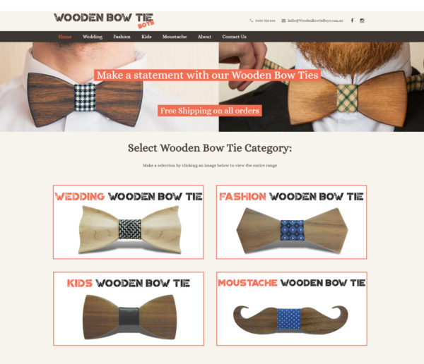 Wooden Bow Tie Boys